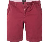 Hose Shorts, Slim Fit, Baumwolle, bordeaux