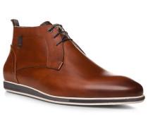 Schuhe Desert Boots, Kalbleder, cognac