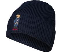 Mütze, Mikrofaser-Wolle, marine