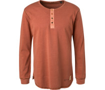 T-Shirt Longsleeve, Baumwolle, zimt meliert