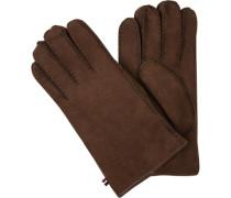 Handschuhe, Lammfell, kastanien