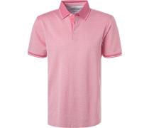 Polo-Shirt, Baumwoll-Piqué, pink gemustert