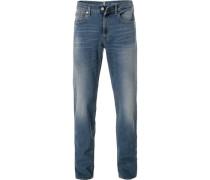 Jeans, Straight Fit, Baumwoll-Stretch, denim