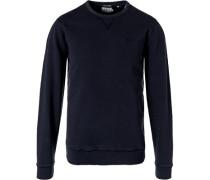 Sweatshirt, Regular Fit, Baumwolle, navy