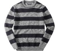 Pullover, Baumwolle, nacht gestreift