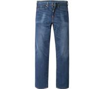Jeans 527 Bootcut, Slim Fit, Baumwolle, dunkel