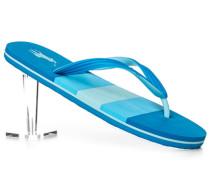 Schuhe Zehensandalen, PVC, capri-hell gestreift