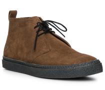 Schuhe Desert-Boots, Veloursleder, cognac