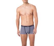 Unterwäsche Trunk, Baumwolle, marine gemustert