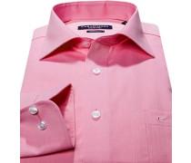 Hemd, Modern Fit, Chambray, rosa
