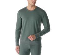 Sweatshirt, Mikrofaser-Baumwolle, khaki