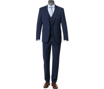Anzug mit Weste, Modern Fit, Schurwolle Super100 Marzotto