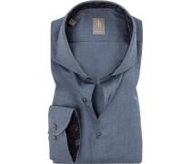 Hemd, Custom Fit, Baumwolle,  meliert