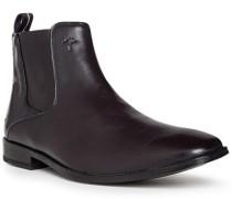 Schuhe Chelsea Boots, Leder, testa di moro