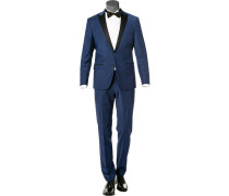 Anzug Smoking, Slim Fit, Schurwoll-Stretch, saphir