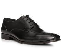 Schuhe Derby, Leder, nero