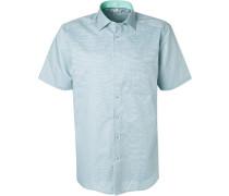 Kurzarmhemd, Comfort Fit, Baumwolle, mint-marine