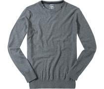 Pullover, Kaschmir, dunkel meliert