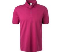 Polo-Shirt, Baumwoll-Piqué, fuchsia