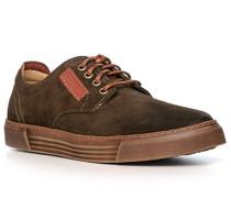 Schuhe Sneaker, Veloursleder, dunkel