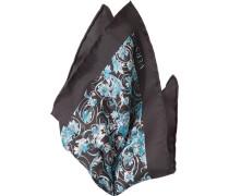 Accessoires Einstecktuch, Seide, schwarz gemustert