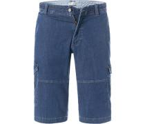 Jeans Cargoshorts, Baumwoll-Stretch