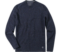 Pullover, Wolle, dunkel meliert