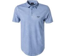 Polo-Shirt, Modern Fit, Baumwoll-Piqué, himmel
