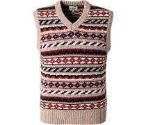 Pullover Pullunder, Wolle, multicolour gemustert