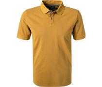 Polo-Shirt, Baumwoll-Piqué, senf