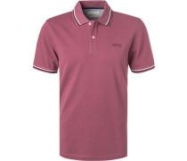Polo-Shirt, Baumwoll-Piqué, bordeaux