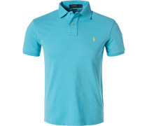 Polo-Shirt, Slim Fit, Baumwoll-Pique, hell