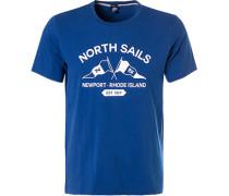 T-Shirt, Regular Fit, Baumwolle, royal