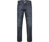 Jeans, Slim Fit, Baumwoll-Stretch, dunkel
