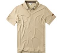 Polo-Shirt, Microfaser-Piqué, camel