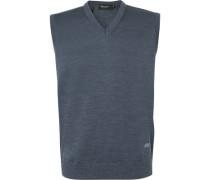 Pullover Pullunder, Merino-Schurwolle, rauch