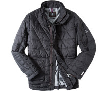 Steppjacke, Classic Fit, Microfaser, dunkel