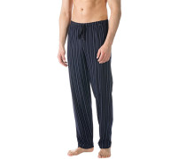 Pyjamahose, Baumwolle, navy gestreift