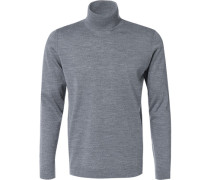 Rollkragenpullover, Shaped Fit, Schurwolle