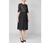 Semitransparentes Kleid COTTON LACE mit Faltenrock