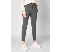 Slim-Fit Hose mit hohem Bund