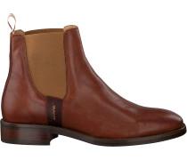 Cognacfarbene Gant Chelsea Boots Fay Chelsea