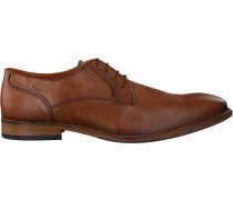 Cognacfarbene Van Lier Business Schuhe 1919100