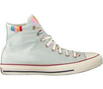 Blaue Converse Sneaker High Chuck Taylor All Star Hi