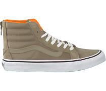 Grüne Vans Sneaker Sk8-Hi Slim ZIP