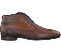 Cognacfarbene Business Schuhe 10879