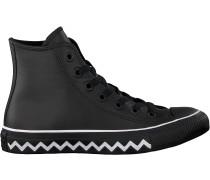 Schwarze Converse Sneaker Chuck Taylor All Star Hi Dames