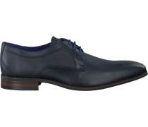 Blaue Braend Business Schuhe 415218