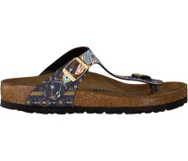 Blue Papillio shoe Gizeh Ancient Mosaic