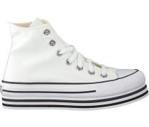 Converse Sneaker High Chuck Taylor As Platform Layer Weiß Damen